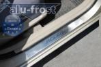 Накладки на пороги Hyundai Accent 2006-2010 (5 дверей)