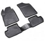Коврики в салон для Citroen C3 2002-2010 черные
