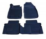 3D коврики в салон для Ford Fiesta 2011- черные