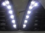 Штатные дневные ходовые огни LED-DRL для Ford Focus III 2011- V2