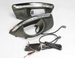 AVTM Штатные дневные ходовые огни LED-DRL для Hyundai Santa Fe 2010-2013
