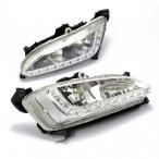 Штатные дневные ходовые огни LED-DRL для Hyundai Santa Fe (DM) 2013-
