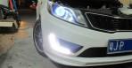 Штатные дневные ходовые огни LED-DRL для Kia Rio 2011- (с ПТФ) V2