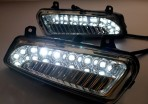 Штатные дневные ходовые огни LED-DRL для Volkswagen Polo Hatchback 2009- (для авто с ПТФ)