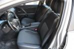 Чехлы из ЭКОкожи для Toyota Avensis 2009- серая строчка