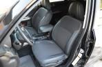 Чехлы из ЭКОкожи для Subaru Forester 3 2008-2013 серая строчка
