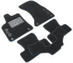 Ворсовые коврики Audi Q5 2008- черные Milan 4 клипсы