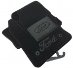 Коврики в автомобиль текстильные Ford Kuga 2013- черные Бизнес 2 клипсы