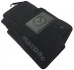 Коврики в автомобиль текстильные Mazda 6 2013- черные Бизнес 4 клипсы
