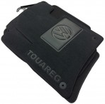 Коврики в автомобиль текстильные Volkswagen Touareg 2010- черные Бизнес 8 клипс