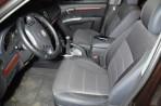 Чехлы из ЭКОкожи для Hyundai Santa Fe 2006-2012 серая строчка