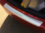 Накладка на бампер с загибом для Mazda 3 Sedan 2014-