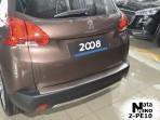 Накладка на бампер с загибом для Peugeot 2008 2014-