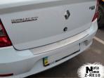 Накладка на бампер с загибом для Renault Logan Sedan 2013-