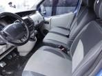 Чехлы из ЭКОкожи для Renault Trafic II 2002- (1+2) серая строчка
