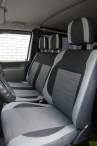 Чехлы из ЭКОкожи для Volkswagen Transporter T4 1990-2003 (1+2) серая строчка