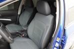 Чехлы из ЭКОкожи для Suzuki SX4 2013- серая строчка