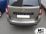 Накладка на бампер с загибом для Renault Logan MCV 2013-