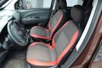 Чехлы из экокожи для Fiat Doblo 2010- красная строчка