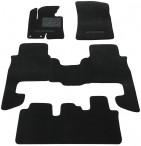 Коврики в автомобиль текстильные Hyundai Santa Fe 2010-2013 (7 мест) черные Бизнес