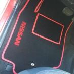 Коврики в салон текстильные для Nissan Micra 2002-2010- черные Ciak (красный кант)