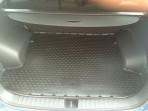 Коврик в багажник автомобиля Kia Sportage 4 2016 полиуретановый черный