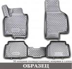 3D коврики в салон для Renault Dokker 2013- черные