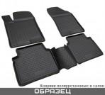 Коврики в салон для Citroen C4 Picasso 2014- черные