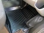 Резиновые 3D коврики в салон для Ford Custom 2012- (9 мест) Novl