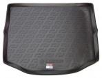 Резиновый коврик в багажник Toyota RAV4 2013- (полноразмерное запасное колесо)