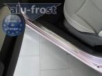 Alufrost Накладки на пороги Fiat 500 2007-2013
