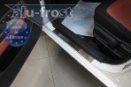 Alufrost Накладки на пороги Hyundai i20 2008- 5 дверей