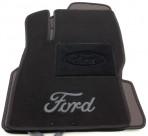 Текстильные коврики в салон для Ford Focus 2 2004-2011 черные ML Lux