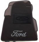 Текстильные коврики в салон для Ford Fiesta 2002-2008 черные ML Lux