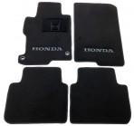 Текстильные коврики в салон для Honda Accord 2013- черные ML Lux 2 клипсы