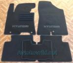 CMM Текстильные коврики в салон для Hyundai i30 2012- черные ML Lux