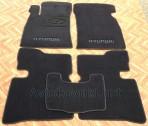 Коврики в салон текстильные для Hyundai Sonata V 2000-2005 черные ML Lux