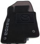 Коврики в салон текстильные для Mazda 6 2013- черные ML Lux 4 клипсы