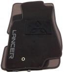 Коврики в салон текстильные для Mitsubishi Lancer 2003-2007 черные ML Lux