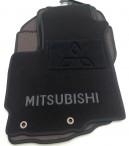 Текстильные коврики в салон для Mitsubishi Outlander XL 2007-2012 черные ML Lux