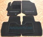 Текстильные коврики в салон для Peugeot 301 2013- черные ML Lux 2 клипсы