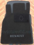 Коврики в салон текстильные для Renault Megane II 2003-2009 черные ML Lux