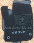 Коврики в салон текстильные для Skoda Rapid 2013- черные ML Lux 4 клипсы