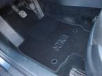 Текстильные коврики в салон для Skoda Octavia A5 2004-2013 черные ML Lux 4 клипсы