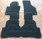 Коврики в салон текстильные для Volkswagen Passat B6 2005-2011 черные ML Lux 4 клипсы