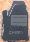 Текстильные коврики в салон для Chery Beat 2011- серые ML Lux