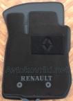 Текстильные коврики в салон для Renault Duster 4WD 2010-2015 черные ML Lux 2 клипсы