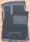 Коврики в салон текстильные для Renault Duster 2010- серые ML Lu
