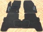 Коврики в салон текстильные для Ford Kuga 2013- черные ML Lux 2 клипсы