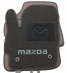 Коврики в салон текстильные для Mazda 3 2009-2013 черные ML Lux